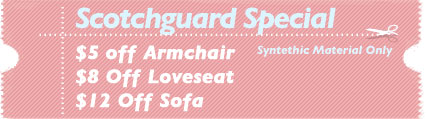 Cleaning Coupons | Upholstery scotchguard specials | Carpet Cleaning Jersey City